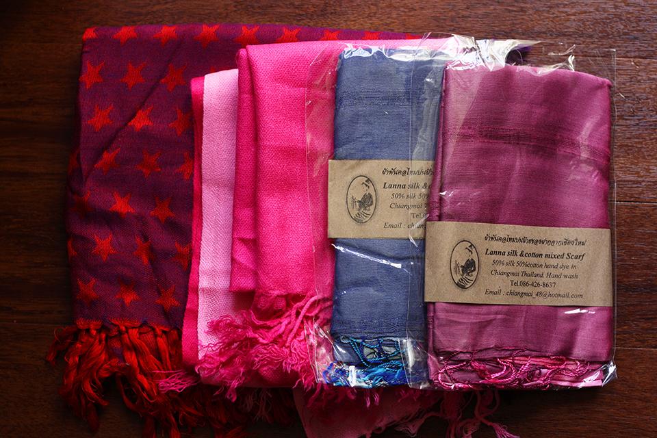 souvenirs-thailande-foulards-soie