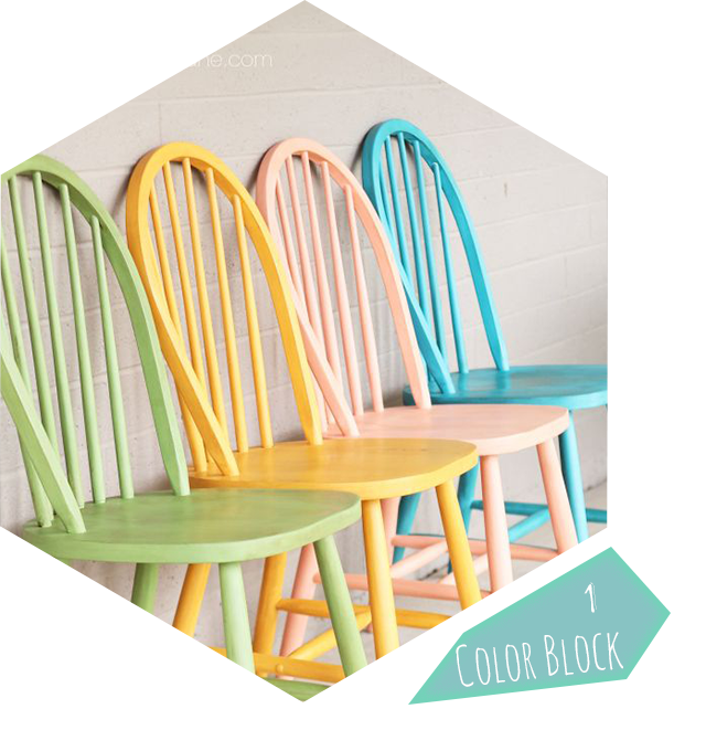D co 10 id es diy pour relooker chaises et tabourets ginger pixel - Repeindre des chaises ...