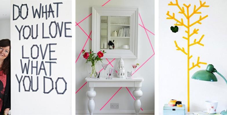 d co 20 id es diy pour relooker un mur ginger pixel. Black Bedroom Furniture Sets. Home Design Ideas
