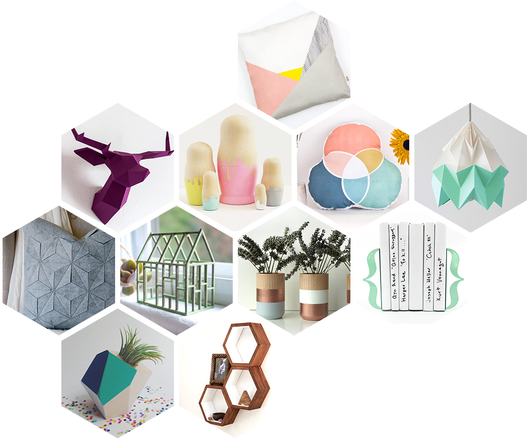 Sélection Etsy géométrique