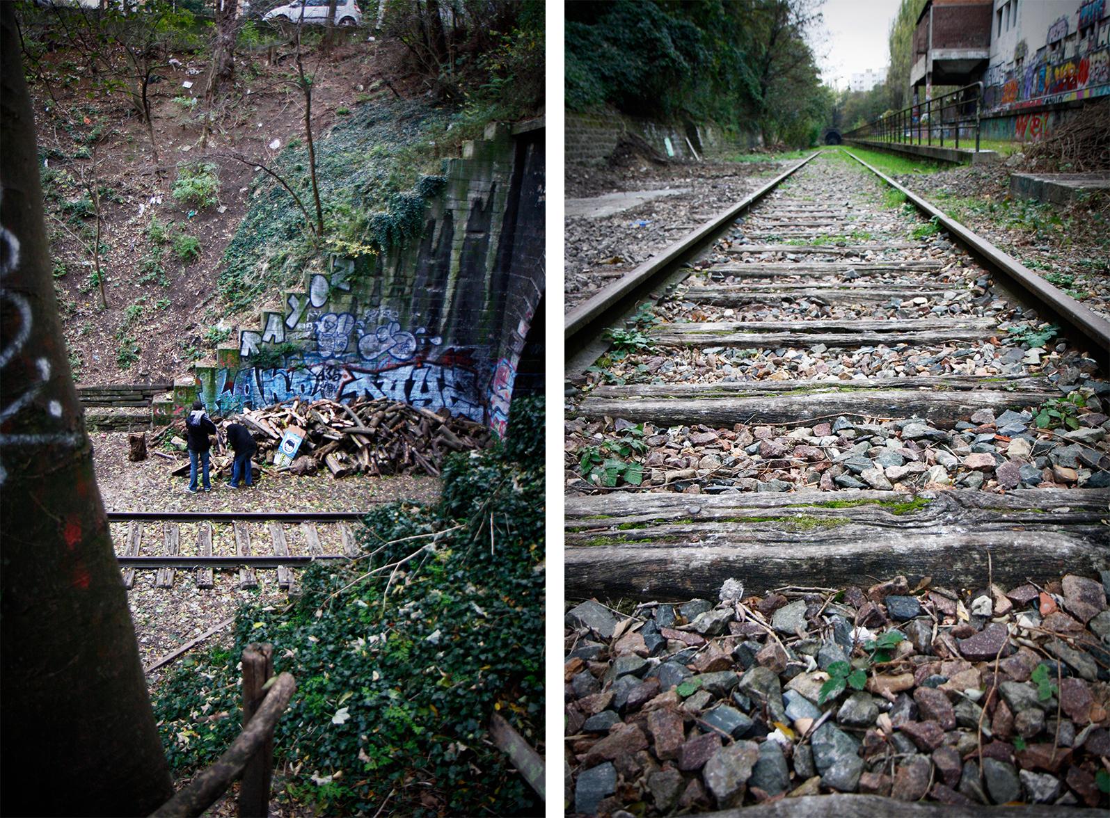 nous avons rencontre un grand chemin de fer