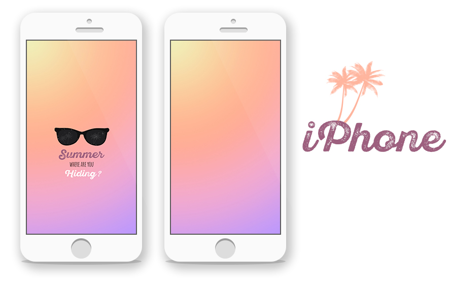 summer mockup iphone