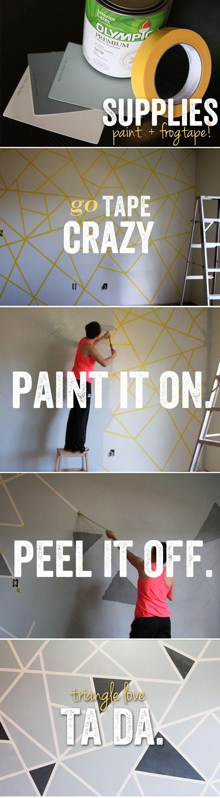 Peindre Triangle Sur Mur déco: 20 idées diy pour relooker un mur - ginger pixel