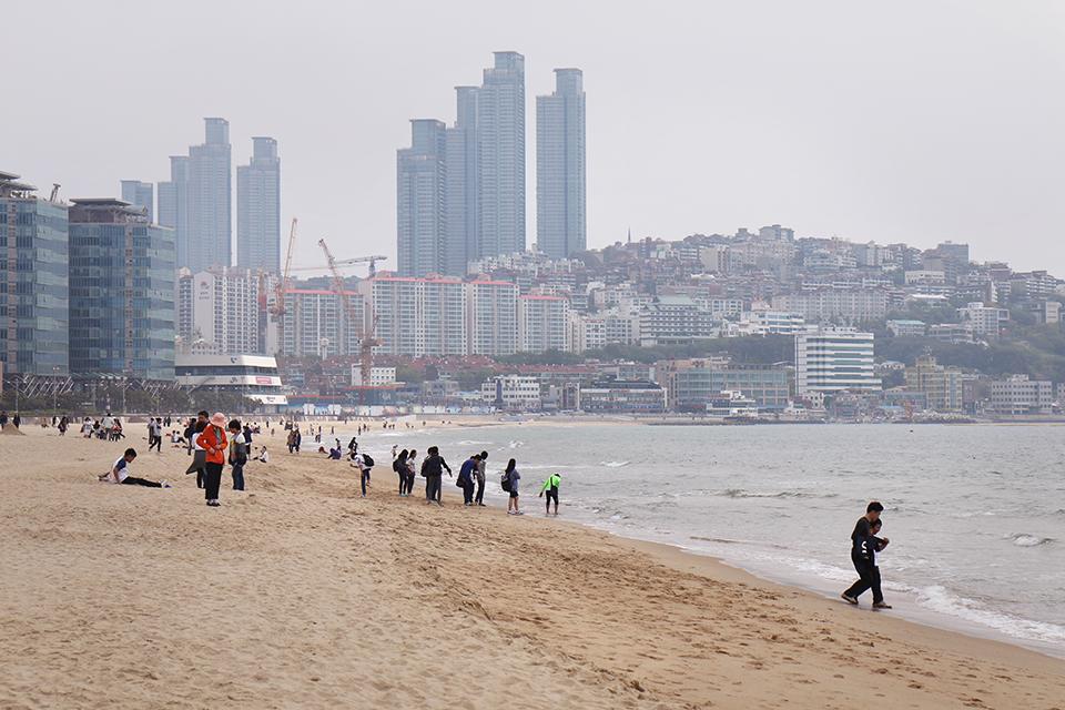 coree busan haeundae plage