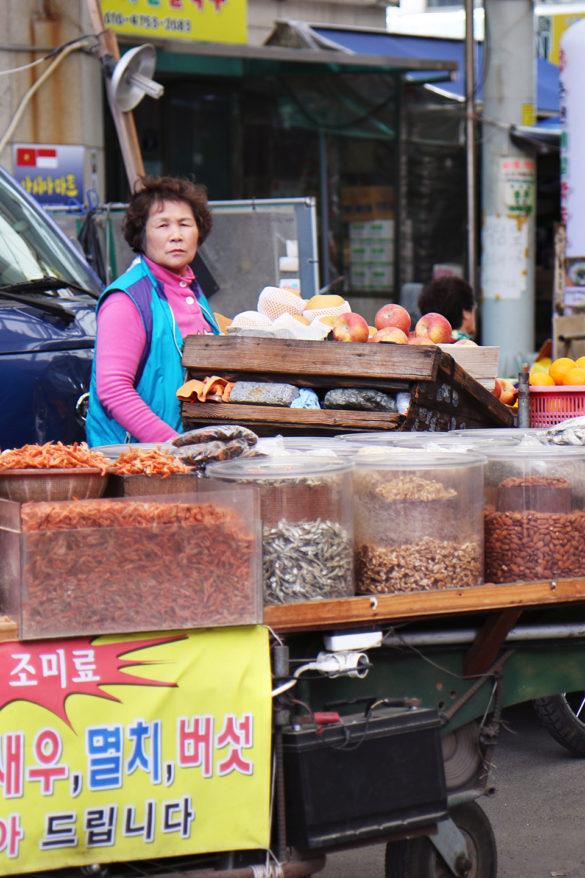 Jagalchi Fish Market Busan ajumma