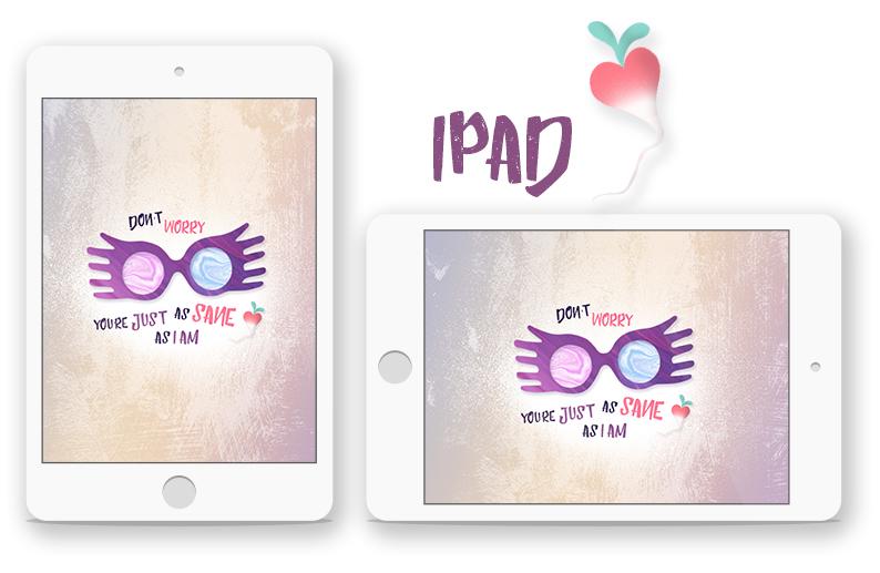 Fond d'écran iPad lunettes Luna Lovegood spectrespecs