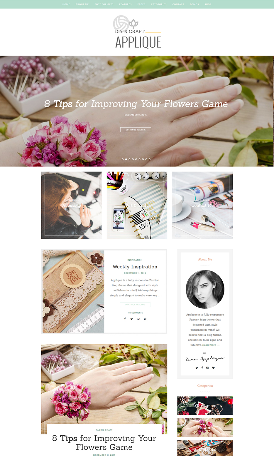 theme wordpress applique