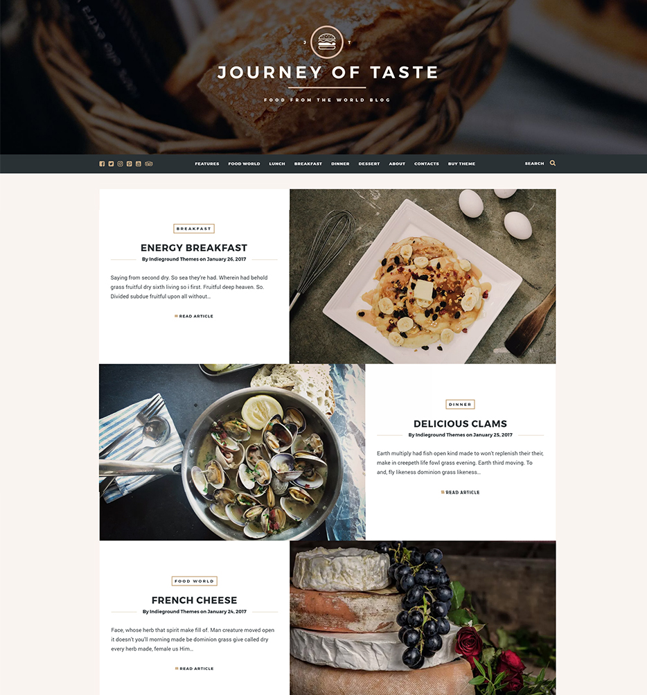 thèmes wordpress journey
